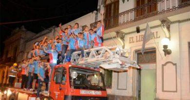 Los chicos del M18 festejaron el título obtenido con una caravana