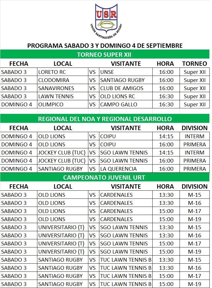Programa 3 y 4 Sep